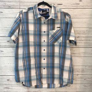 O'Neill men's short sleeved button up shirt (R8
